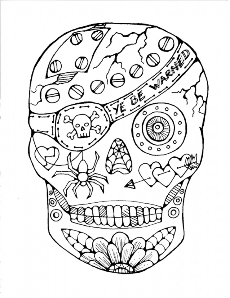 Get This Sugar Skull Coloring Pages to Print for Free