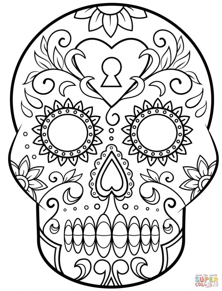 Get This Sugar Skull Coloring Pages to Print for Grown Ups 31682 !