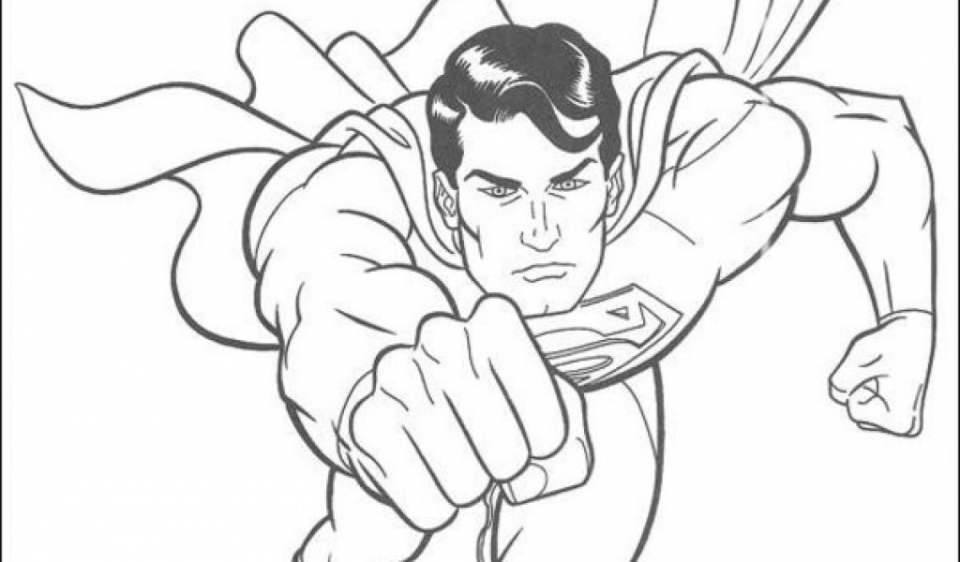 Awesome Collection Of 2017 Superman Coloring Pages For
