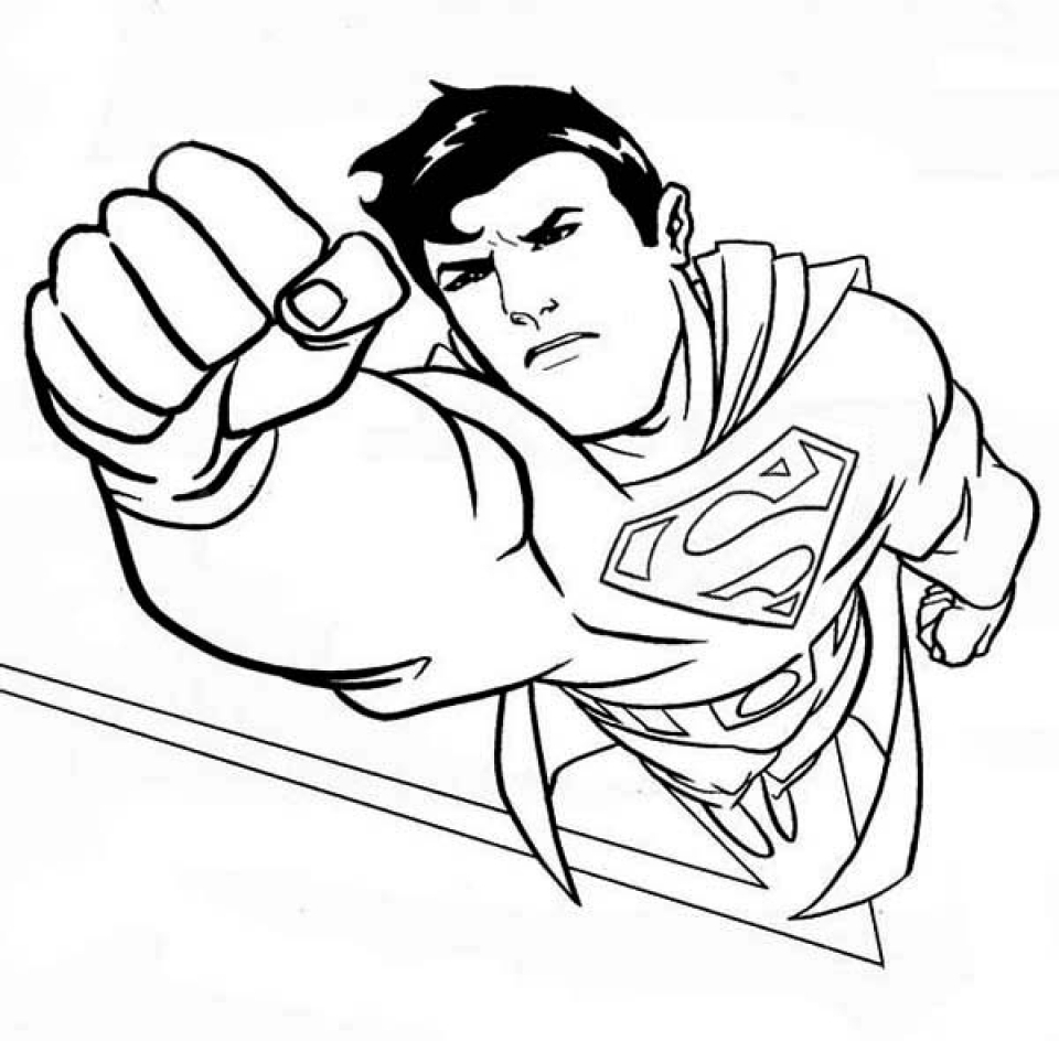 Get this superman coloring pages free printable 35749 for Super man coloring page