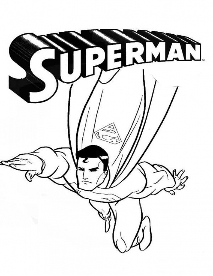 Get This Superman Coloring Pages Free Printable 69959
