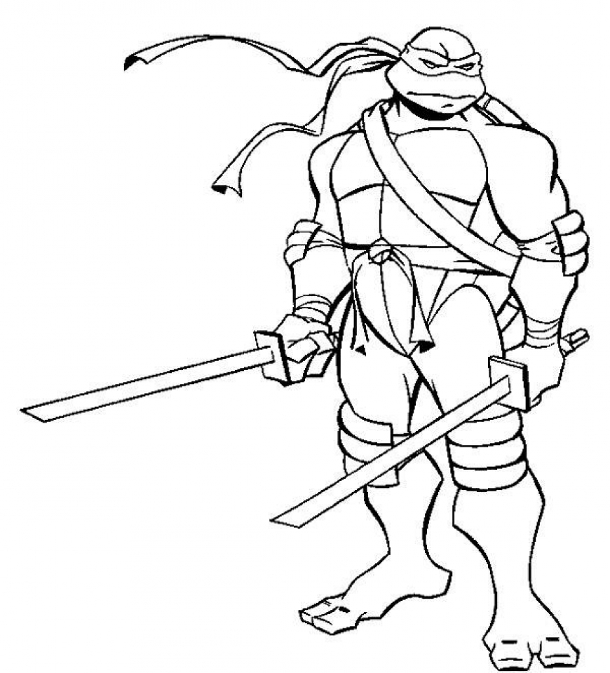 Mandala coloring pages turtles - Teenage Mutant Ninja Turtles Coloring Pages Free Printable 65190