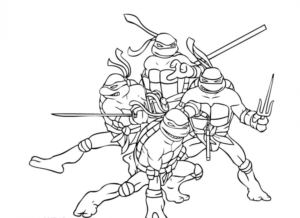 Get This Teenage Mutant Ninja Turtles Coloring Pages Free ...
