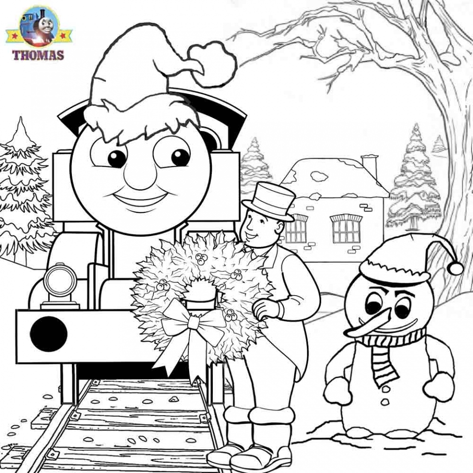 Train coloring sheet - Thomas The Train Coloring Pages Free 2153