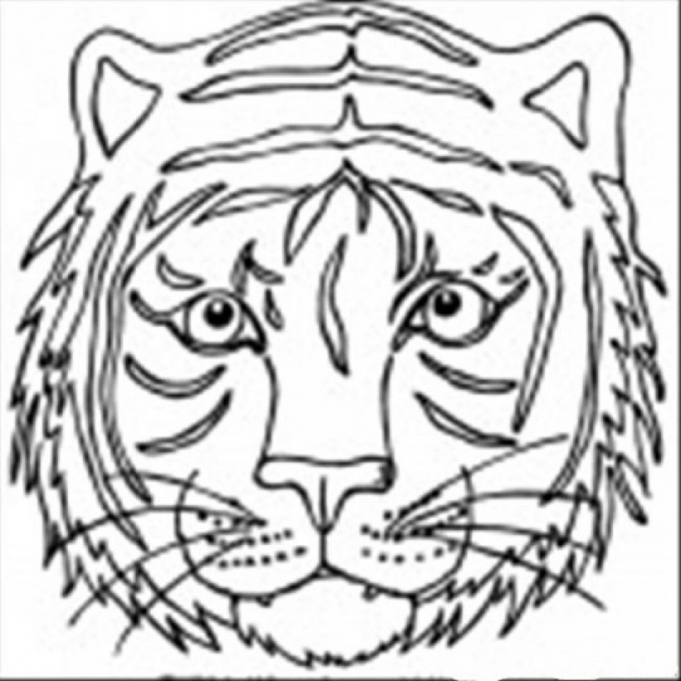 Coloring Pages Of Tiger Face Coloring Pages