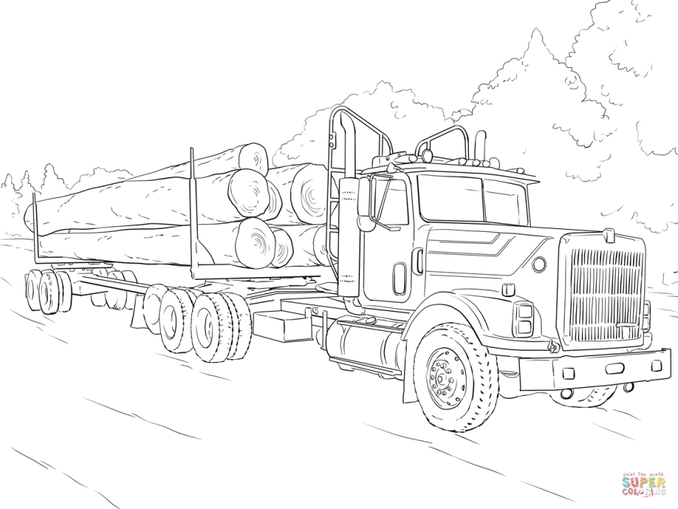 get this truck coloring pages for kids 16486