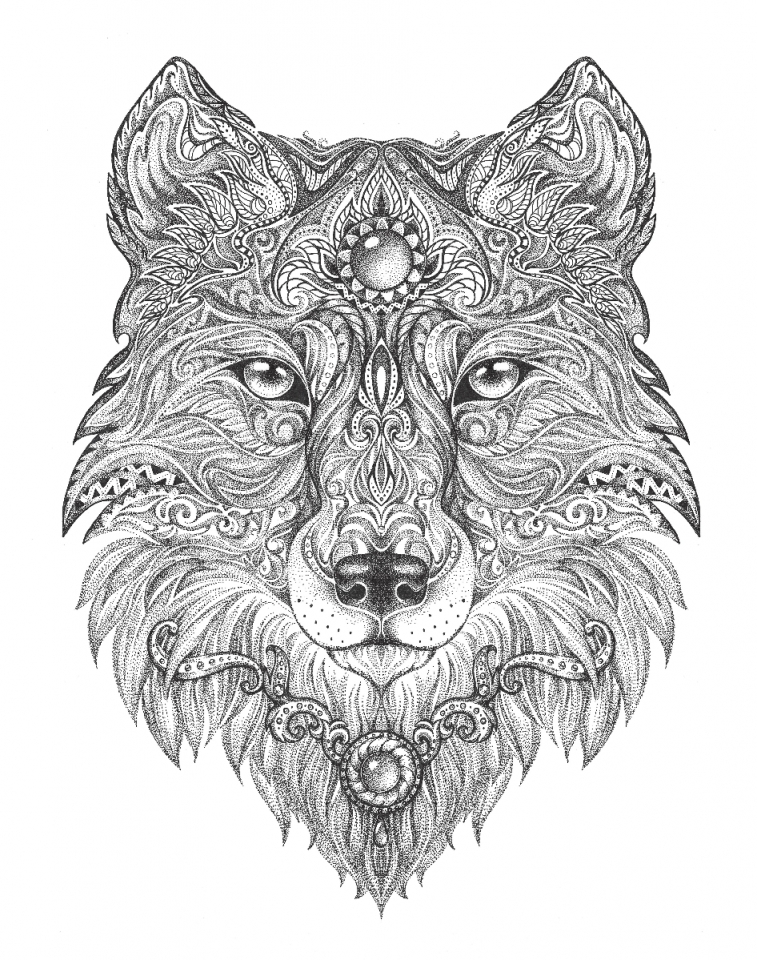 Wolf Coloring Pages For Adults 75619