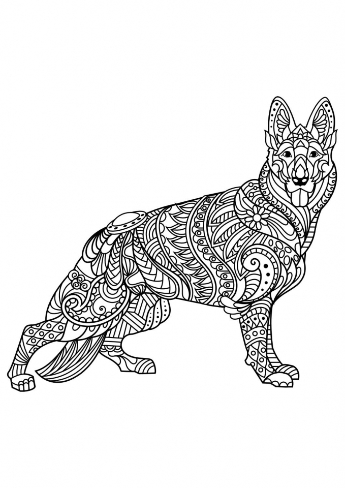 Get This Wolf Coloring Pages for Adults 86711 !