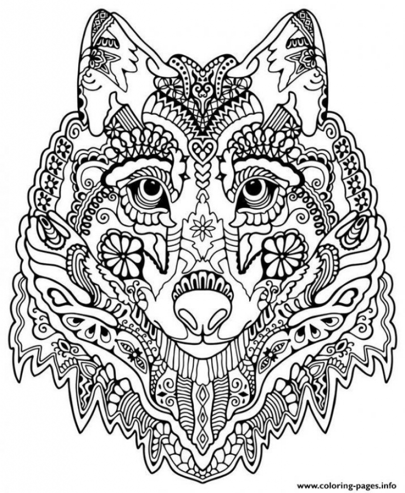Get This Wolf Coloring Pages for