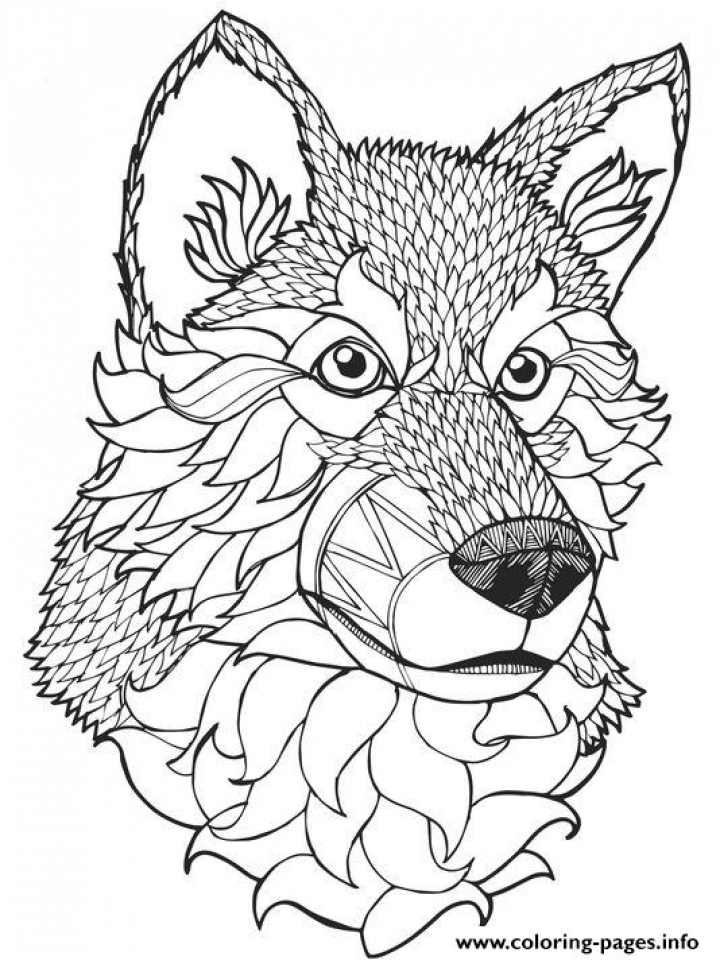 wolf coloring pages for adults free printable 99131
