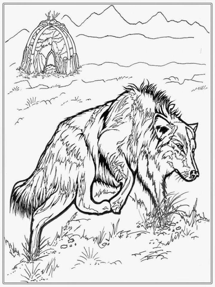 Get This Wolf Coloring Pages Free Printable 31895