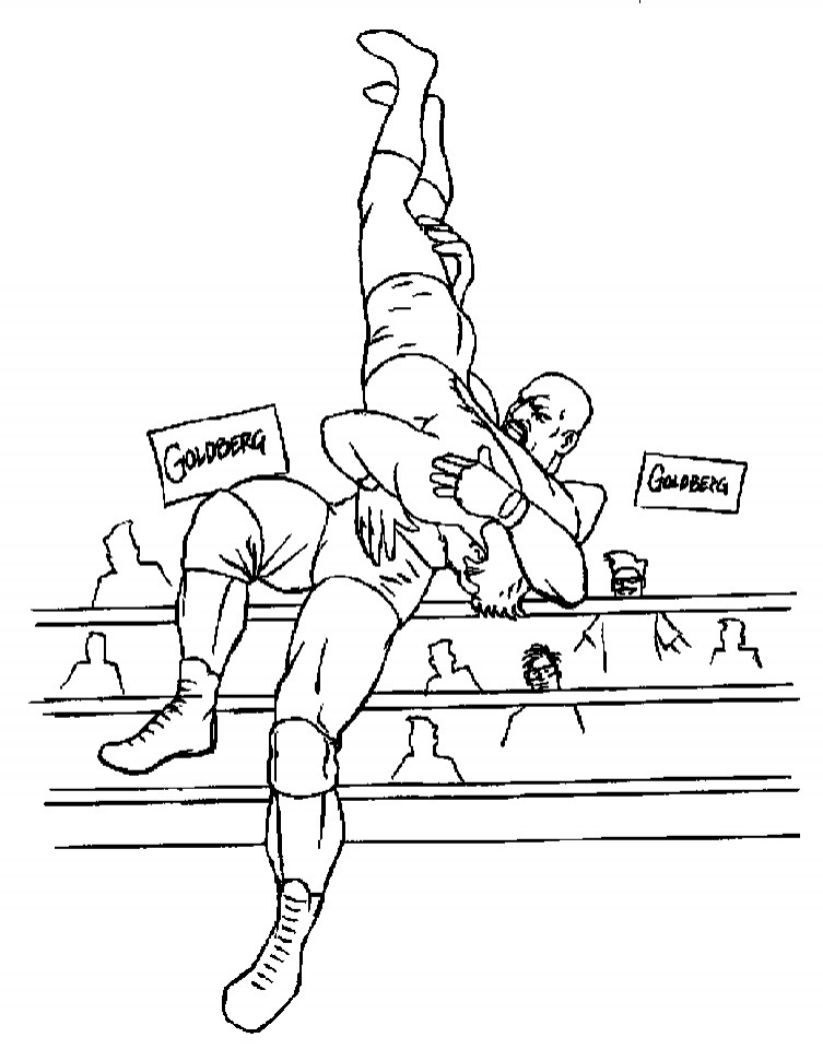 wrestling cards coloring pages - photo#9