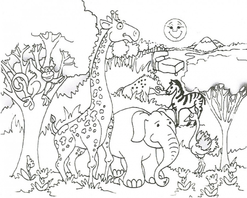 Get this free printable fall coloring pages for kids 5gzkd for Zoo coloring pages printable