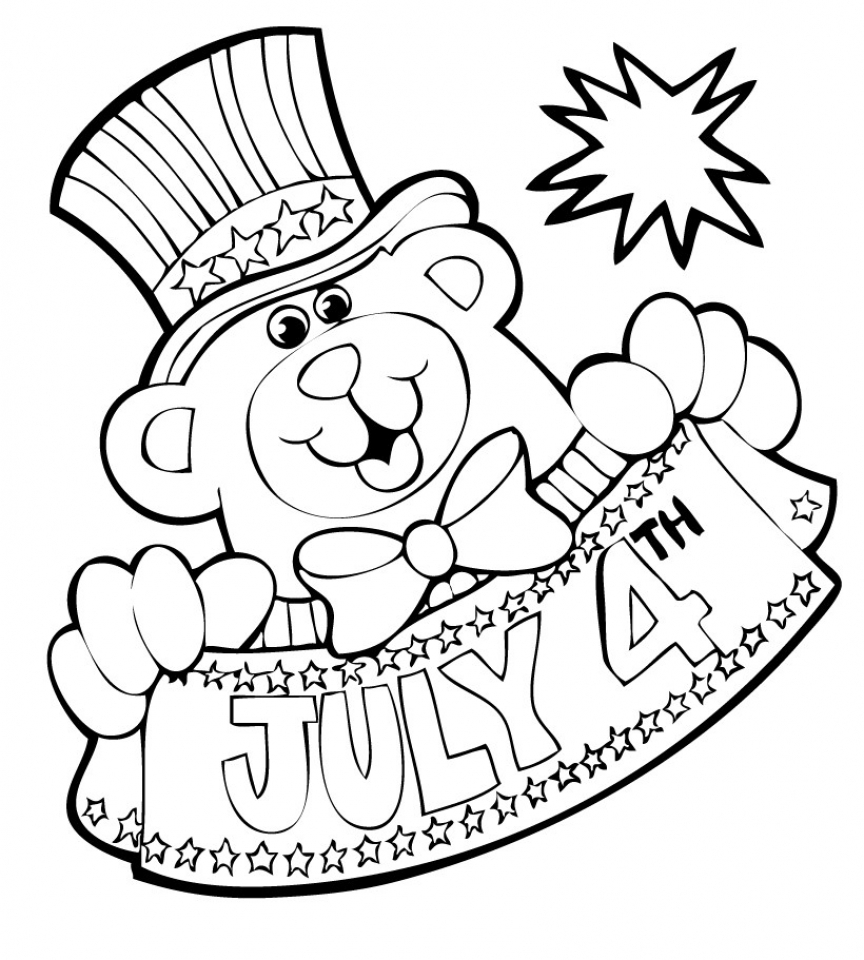coloring pages 4th july peppa pig print