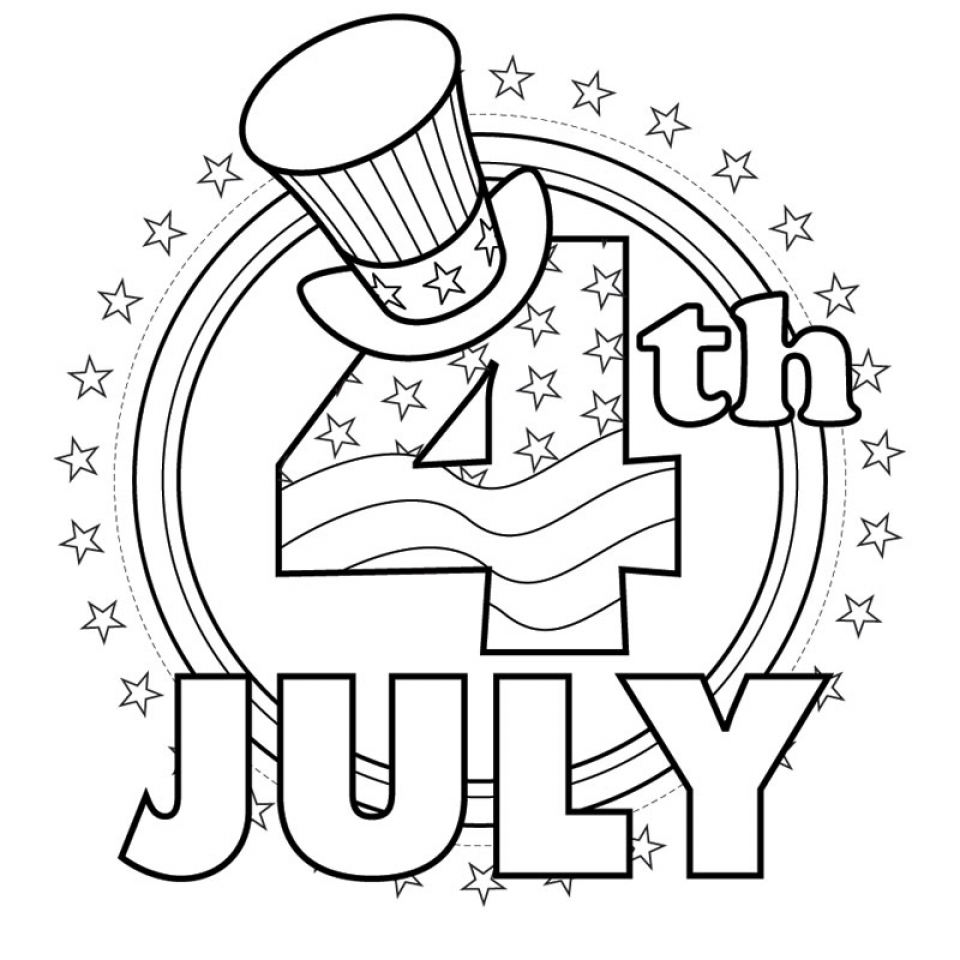 Coloring pages for dots for 4 of july - 4th Of July Coloring Pages Free To Print 5dn5o