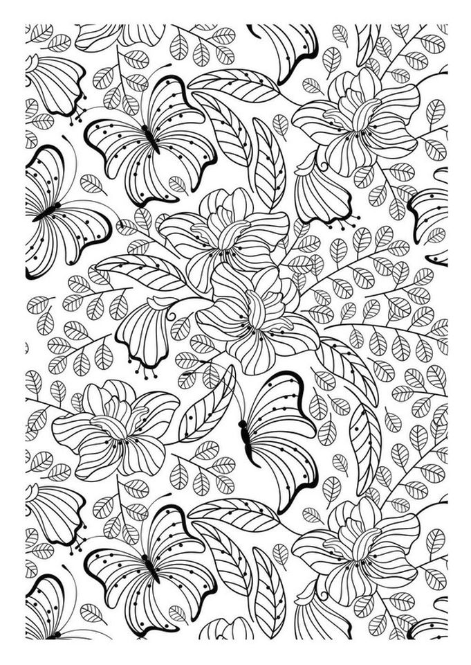 advanced coloring pages of butterfly for adults 7fg5