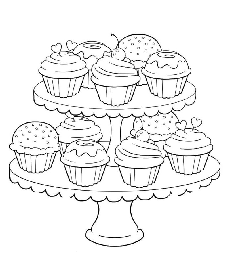 Get This Birthday Cupcake Coloring Pages for Kids - 7gb41