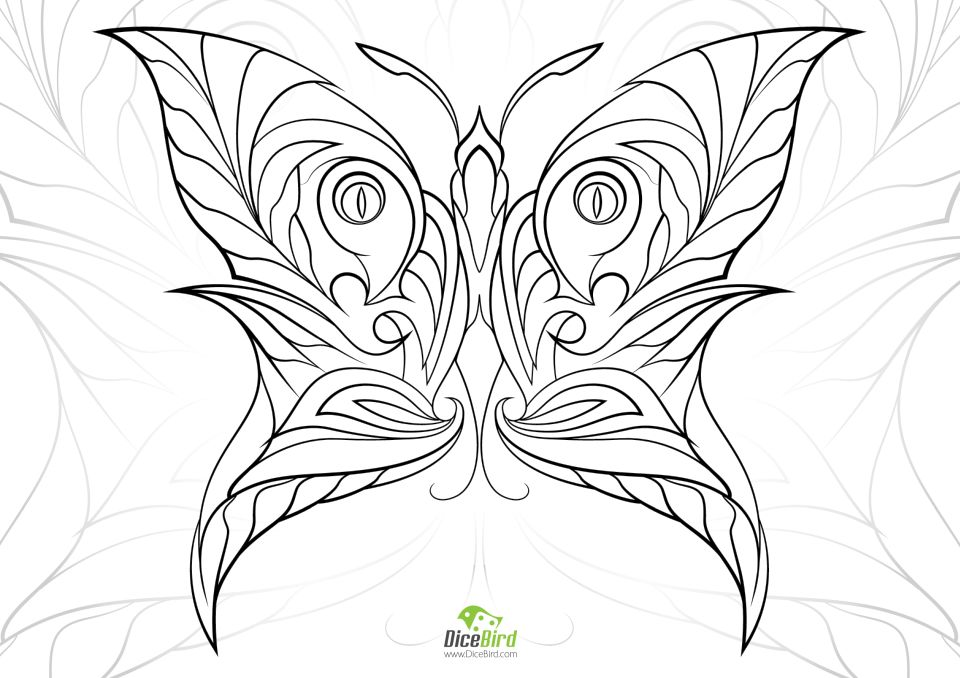Get this butterfly coloring pages adults printable 7ahf5 for Coloring pages of butterflies for adults