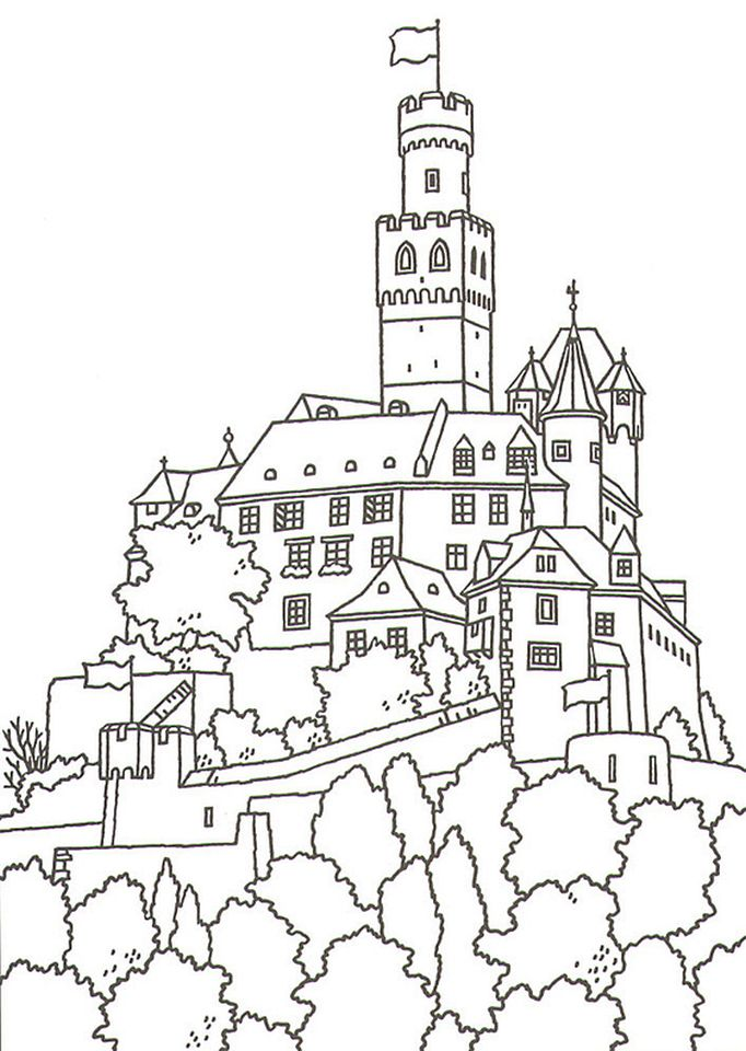 Get This Castle Coloring Pages Printable 2bs81 - Castle-coloring-pages-to-print