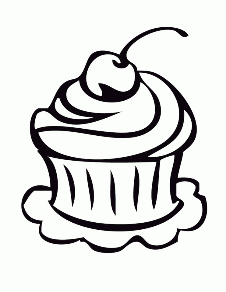 cupcake coloring pages for kids 9vb51