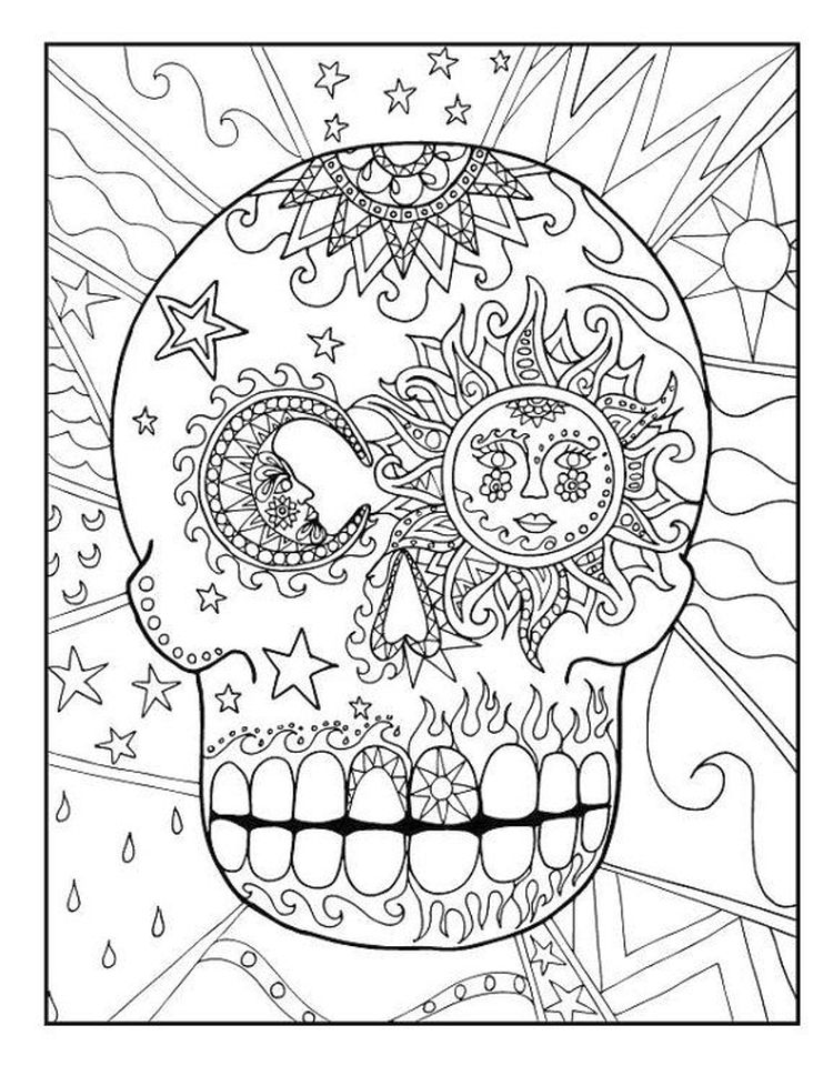 Get This Day Of The Dead Coloring Pages