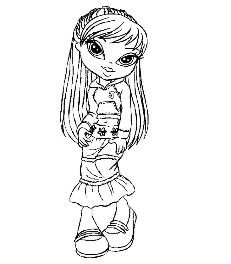 Get This Free Bratz Coloring Pages To Print For Girls