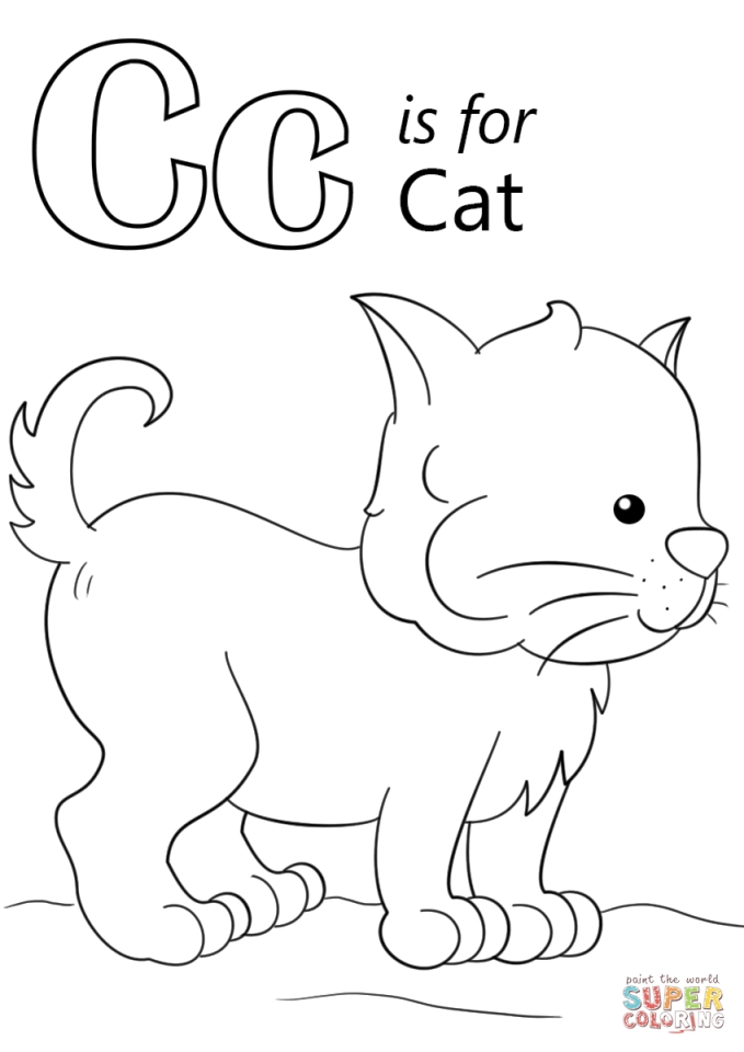 Get This Letter C Coloring Pages Cat - 63bma !