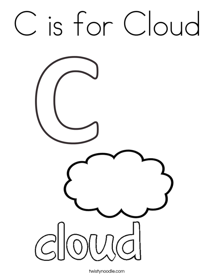 Get This Letter C Coloring Pages Cloud - 83nfl !