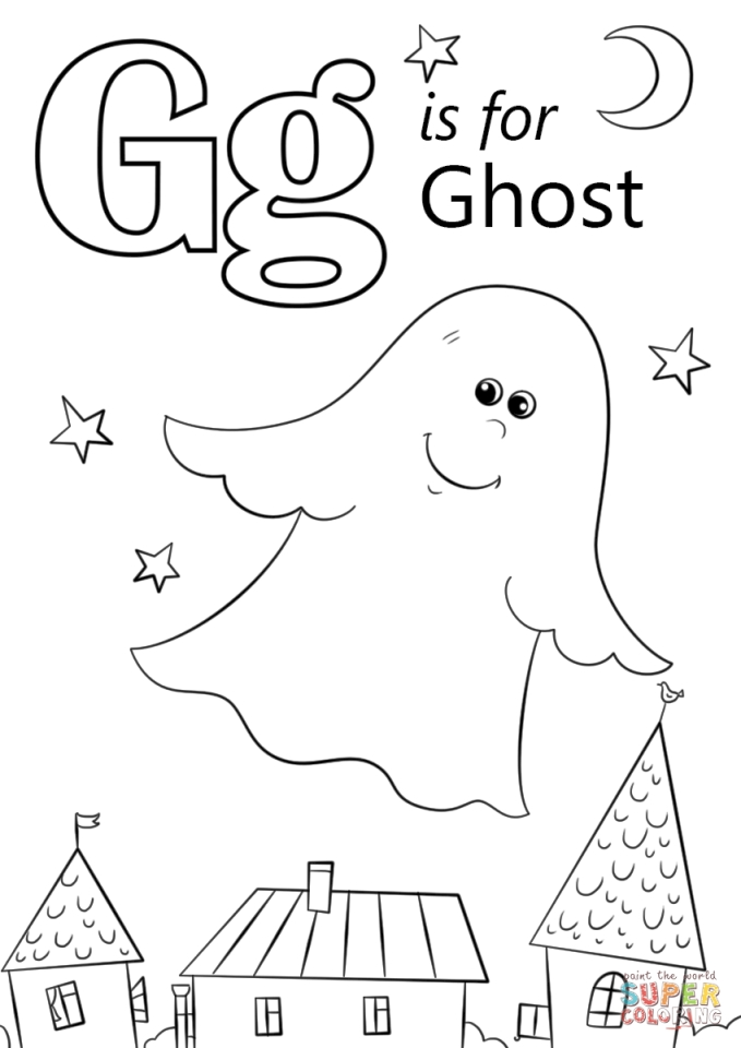 Get This Letter G Coloring Pages Ghost - uen3m
