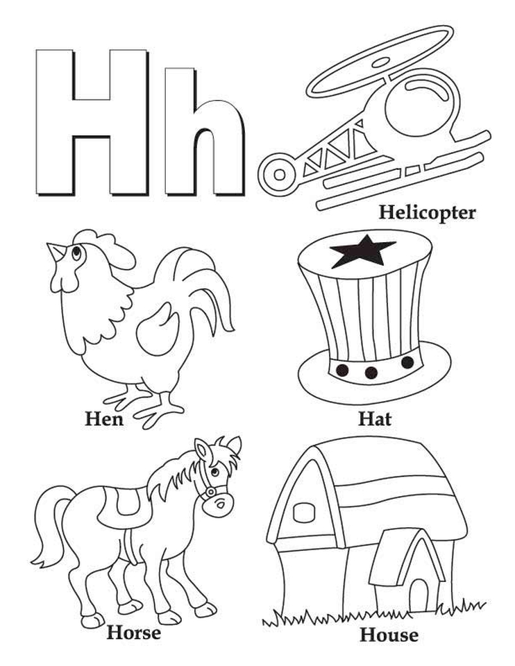 Get This Letter H Coloring Pages - y3bal