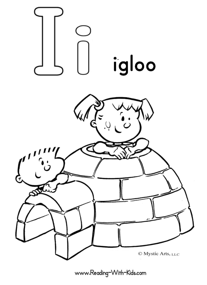 letter i coloring pages iglo 2g4ml