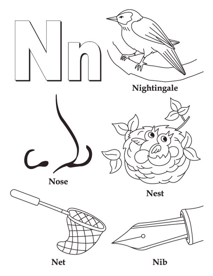 Get This Letter N Coloring Pages