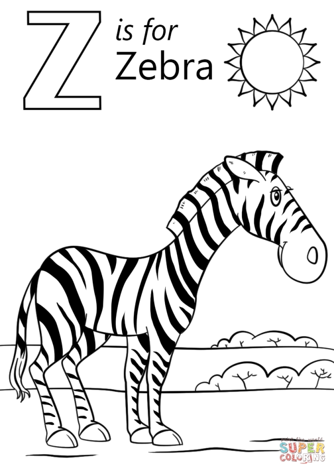 Get This Letter Z Coloring Pages Zebra 3anz
