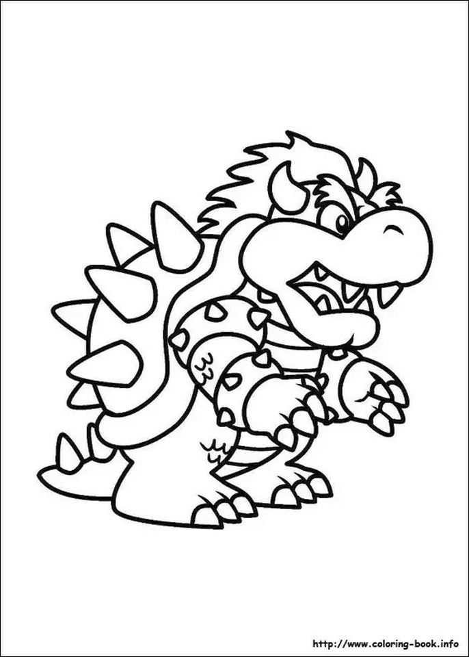 Get This Mario Coloring Pages Bowser - u57dn !