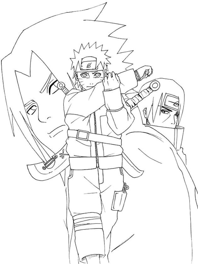 Naruto In Six Paths Sage Mode Coloring Page - Free Printable ... | 840x630