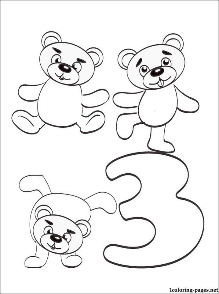 Get This Number 3 Coloring Page - 3a73n !