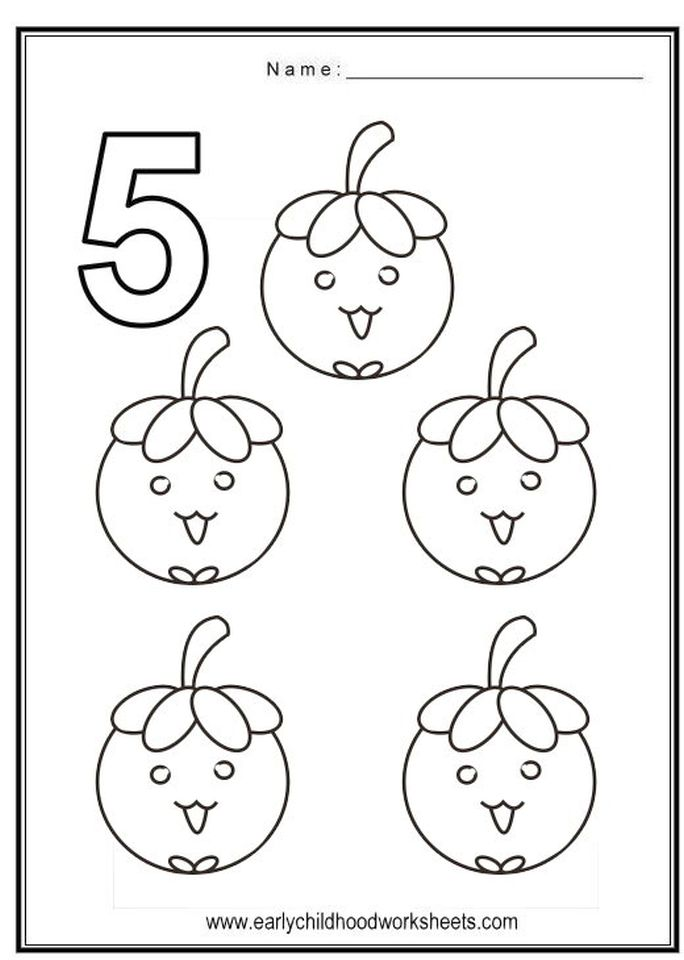 Get This Number 5 Coloring Page 562s5