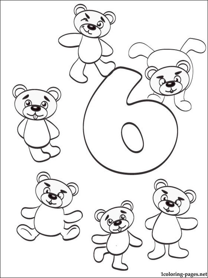 Get This Number 6 Coloring Page