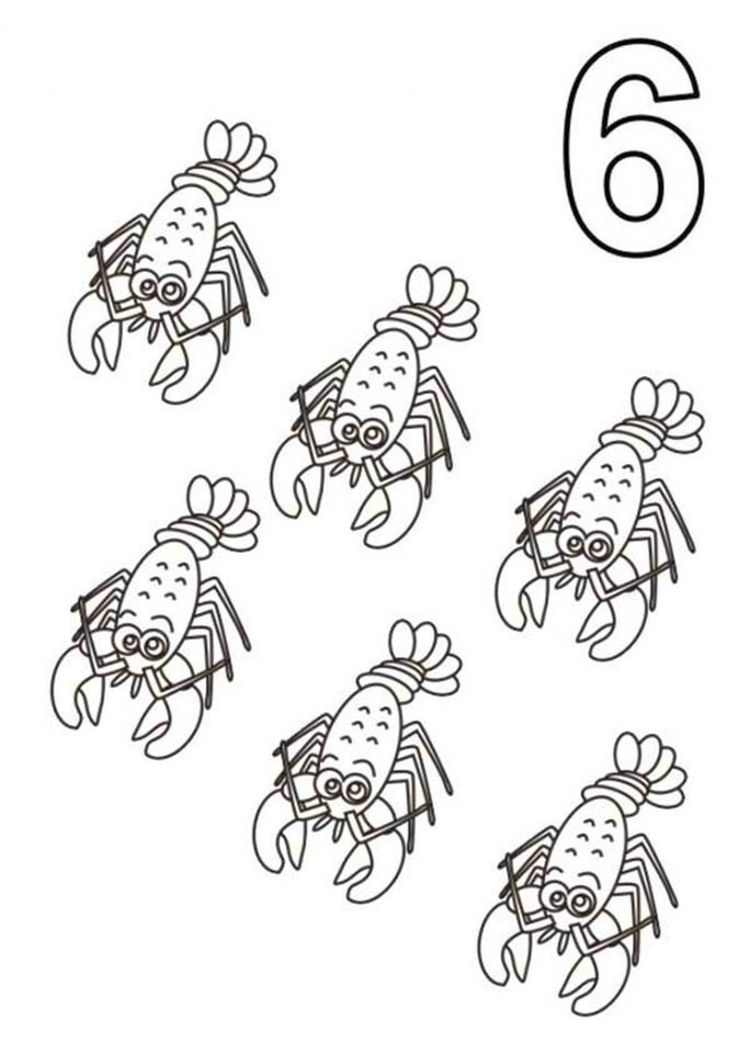 number 6 coloring page 6cvf6