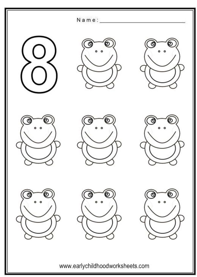 Get this number 8 coloring page 8f785 for Number 8 coloring page