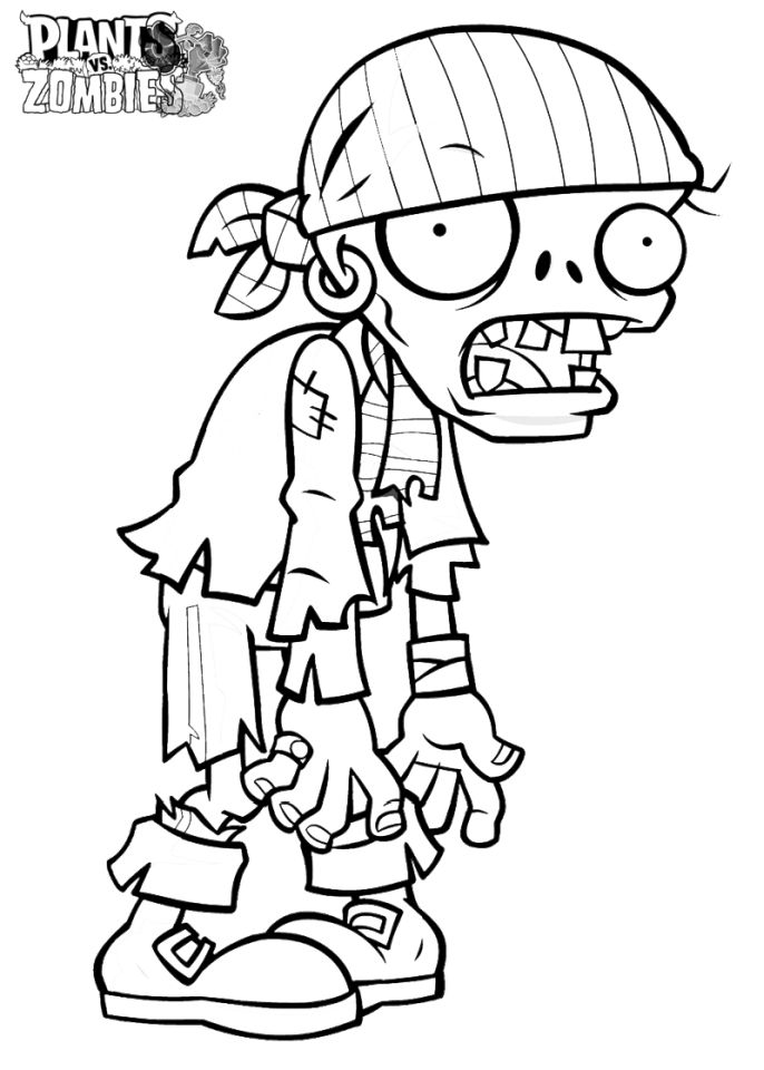 Plants Vs Zombies Coloring Pages For Kids At219