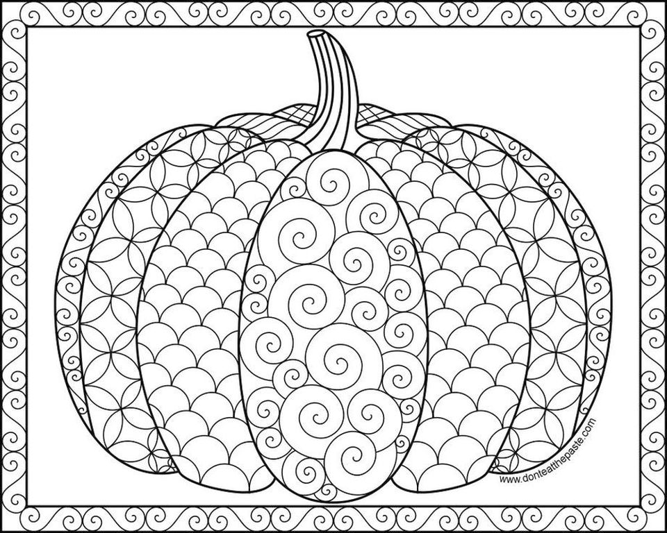 Get This Pumpkin Coloring Pages for Adults Free - yvbf1 !