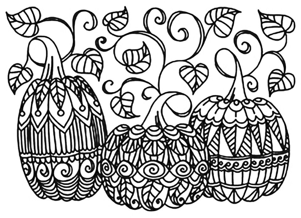 Pumpkin Coloring Pages for Adults Printable – 6cvd1