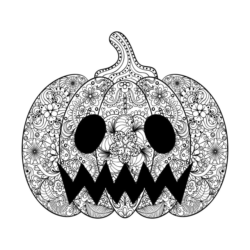 Get This Pumpkin Coloring Pages for Adults to Print - 721jx !