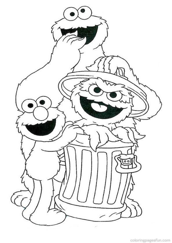 Get This Sesame Street Coloring Pages Free Printable - 67290 !