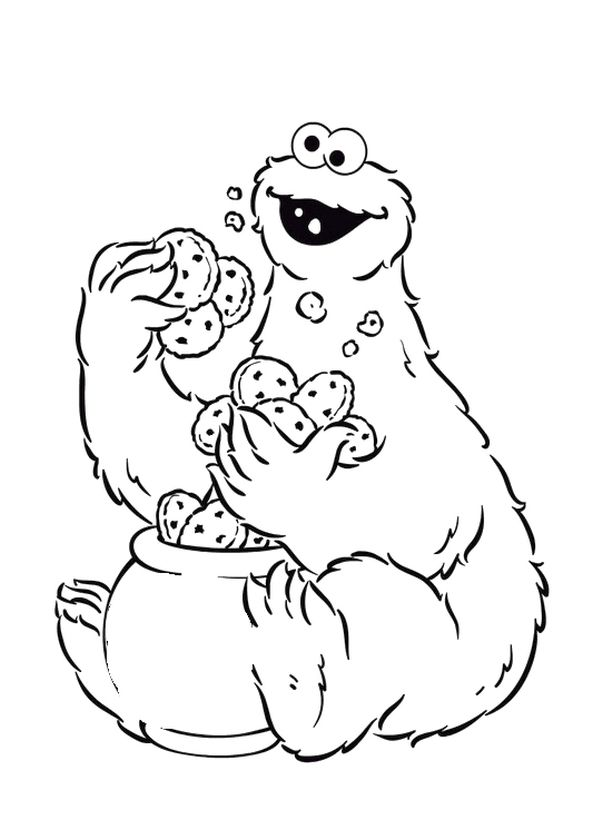 Get This Sesame Street Coloring Pages Free Printable - mk5ls !
