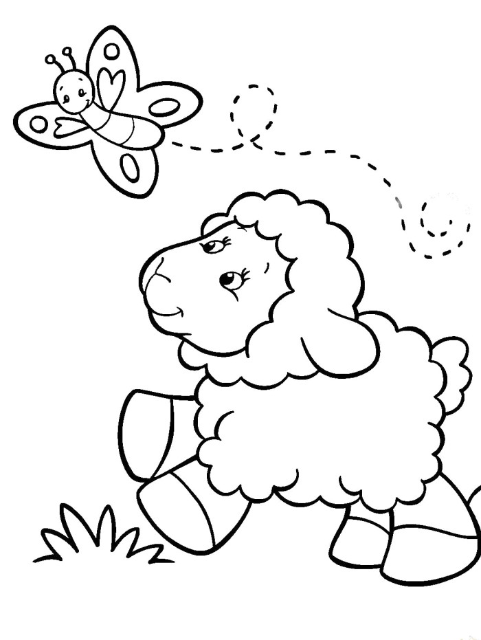 Sheep Coloring Pages Free U2013 Bdu8q