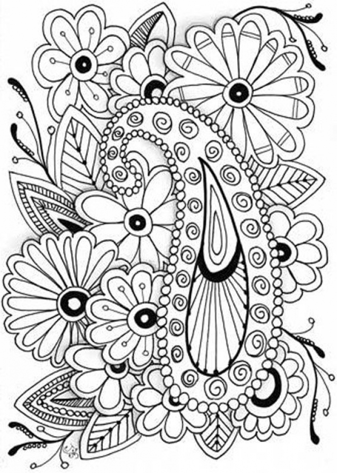 Get This Abstract Flowers Coloring Pages For Adults 7cv31