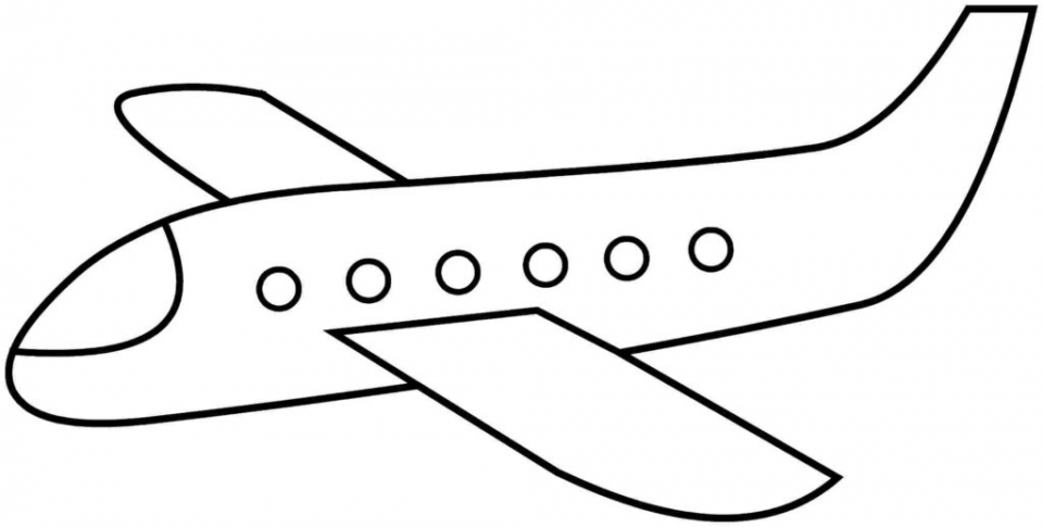 Airplane Coloring Pages For Preschoolers 96ov2