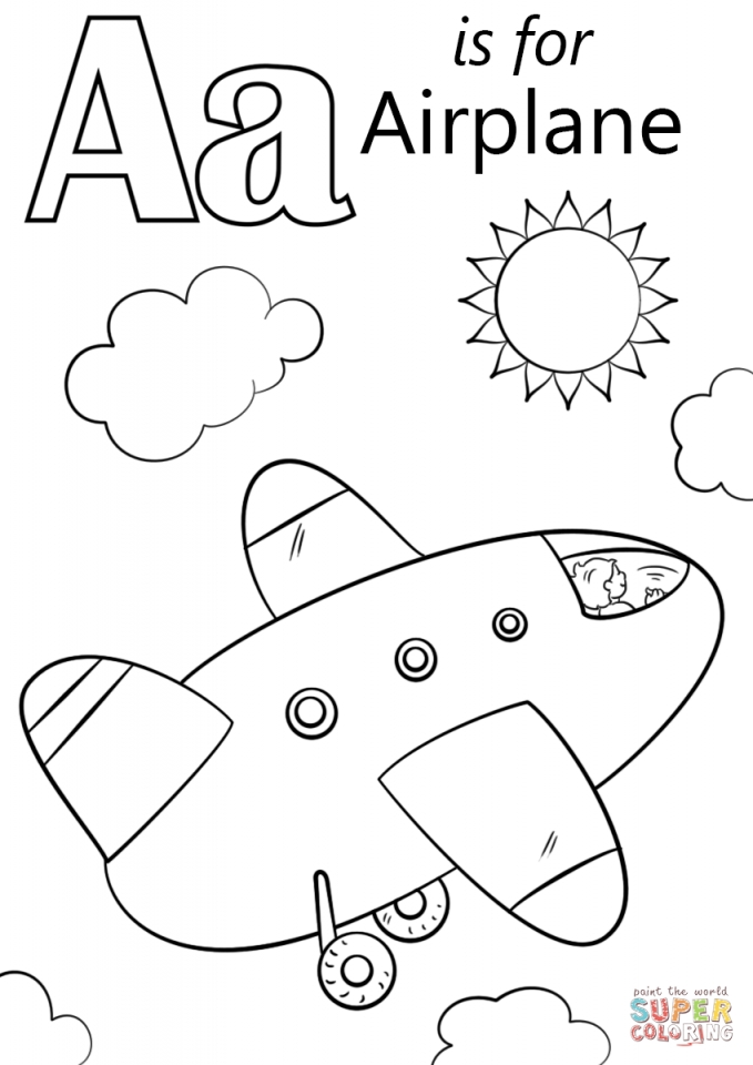 Get this airplane coloring pages free printable 67316 for Airplane coloring page printable